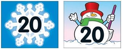 Carson Dellosa Snowflake Snowman Calendar Cover Up