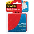 Scotch® Restickable Dots, 7/8in. x 7/8in., 18/Pk