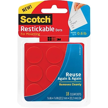 Scotch® Restickable Dots, 7/8