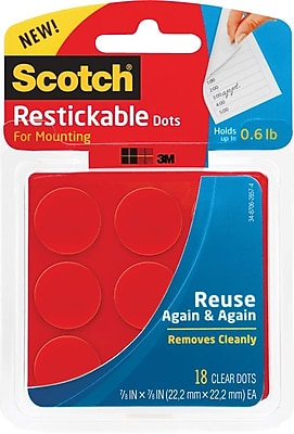 """/""""Scotch Adhesive Dot Roller Value Pack 0.3 In X 49 Ft. 4//pk/"""""""