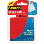 "Scotch® Restickable Dots, 7/8"" x 7/8"", 18/Pk"