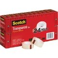 Scotch® Transparent Tape Refill 600, 3/4in. x 1,000in., 1in. Core, 24/Pk