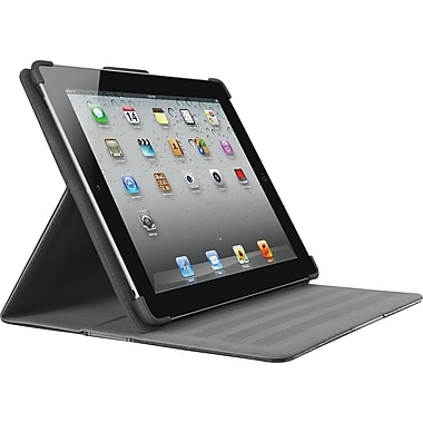 Belkin Cinema Stripe Folio with Stand for iPad 2 & iPad 3, Blacktop/Gravel