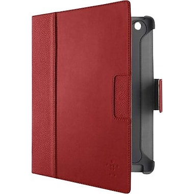 Belkin Cinema Leather Folio with Stand for iPad 2 & iPad 3, Red/Gravel