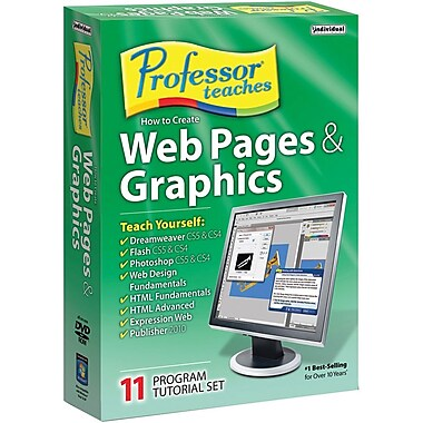 Individual Software Professor Teaches Web Pages & Graphics 8 for Windows (1-User) [Boxed]