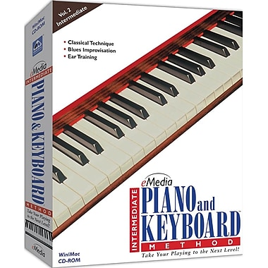 Emedia Music Intermediate Piano And Keyboard Method for Windows/Mac (1-User) [Boxed]