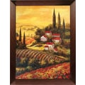 Hand Painted in.Under The Tuscan Sunin. Framed Artwork, 19x23
