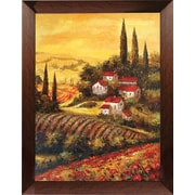 Hand Painted Under The Tuscan Sun Framed Artwork, 19x23