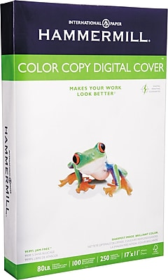 Hammermill Color Copy Digital Cover Stock White 11 W x 17 L 250 Sheets