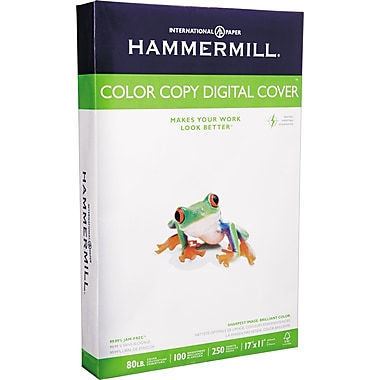 Hammermill® Color Copy Digital Cover Stock, White, 11in.(W) x 17in.(L), 250 Sheets