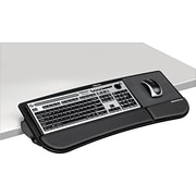"Fellowes ® Tilt 'N Slide Keyboard Manager, Black, 8 1/2""(W) x 7 1/4""(D) Mouse Tray"