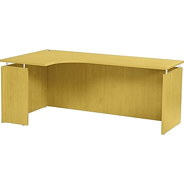Alera® SedinaAG Woodgrain Laminate Left Corner Return Credenza Shell, 72in.W, Maple