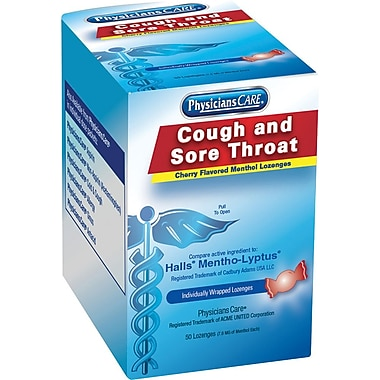 Acme® Physician care® 90306 Cough/Sore Throat Lozenges (Compare to Halls), 50 Lozenges