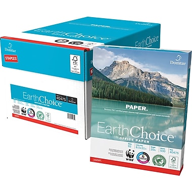 Domtar EarthChoice® Office Paper, 8 1/2in. x 11in., Case