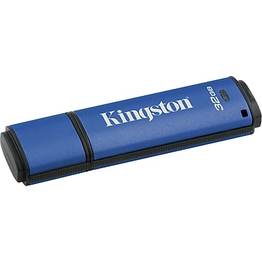 Kingston DataTraveler Vault Privacy Managed 32GB USB 2.0 Data Encrypted USB Flash Drive (Blue)