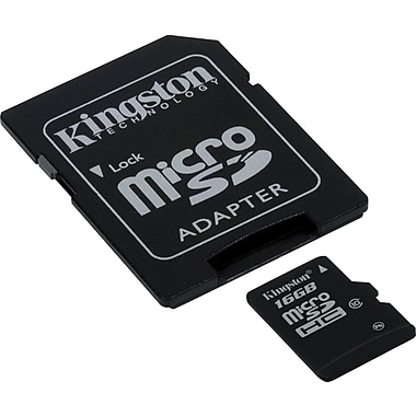 Kingston 16GB Ultimate microSD (microSDHC) Card Class 10 Flash Memory Card w/ Adapter