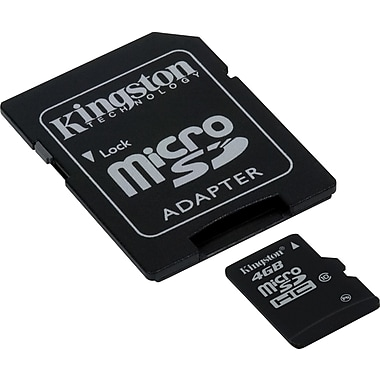 Kingston 4GB Ultimate microSD (microSDHC) Card Class 10 Flash Memory Card w/ Adapter