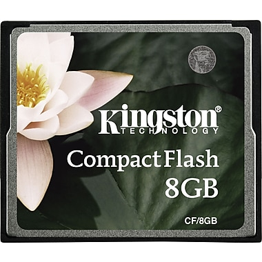 Kingston Standard Compact Flash Card 8x Flash Memory Cards