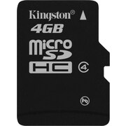 Kingston 4GB - microSD (microSDHC) Card Class 4 Flash Memory Card