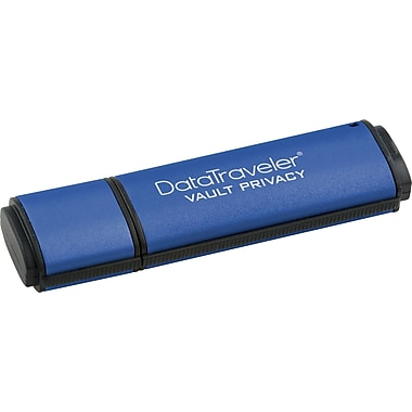 Kingston DataTraveler Vault Privacy 16GB USB 2.0 Data Encrypted USB Flash Drive (Blue)