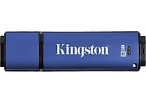 Kingston DataTraveler Vault Privacy 8GB USB 2.0 Data Encrypted USB Flash Drive (Blue)