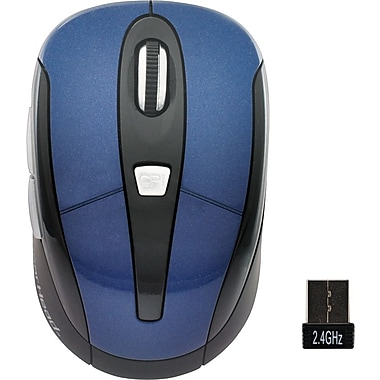 Gear Head Optical 2.4 GHz Wireless Mouse, Blue