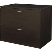 Office Star Napa Collection 2-Drawer Lateral File, Assembled, Espresso