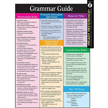 Instructional Fair Grammar Guide Learning Cards