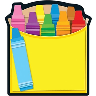 Carson Dellosa Crayons Box Notepad 8in. x 6in., Yellow (151037)