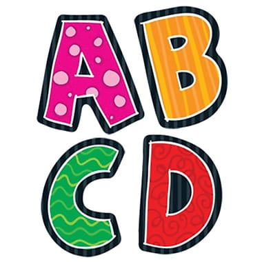 Carson dellosa alphabet shape stickers staplesr for Medical chart letter stickers
