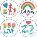 Carson-Dellosa Faith Shape Stickers