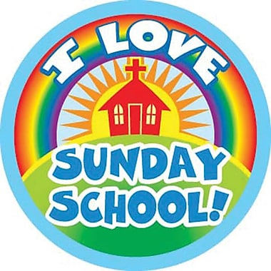 Carson-Dellosa I Love Sunday School! Shape Stickers