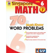 Frank Schaffer 70 Must-Know Word Problems Workbook, Grade 7