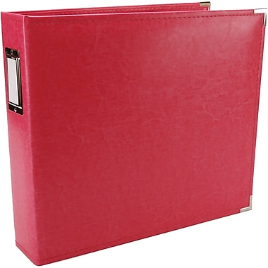 We R Memory Keepers We R Faux Leather 3-Ring Binder, 12in. x 12in., Strawberry