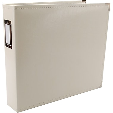 We R Memory Keepers We R Faux Leather 3-Ring Binder, 12in. x 12in., Vanilla