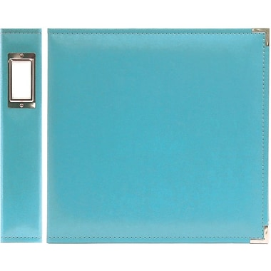 We R Memory Keepers We R Faux Leather 3-Ring Binder, 12in. x 12in., Aqua