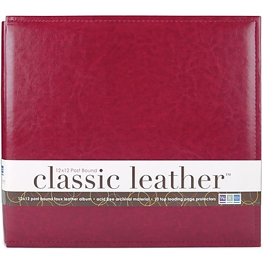 We R Memory Keepers We R Classic Leather Postbound Album, 12in. x 12in., Wine