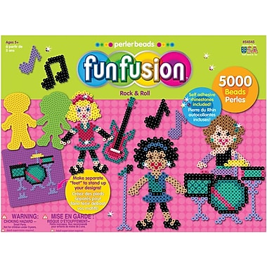 Perler Fun Fusion Fuse Bead Value Activity Kit, Rock & Roll