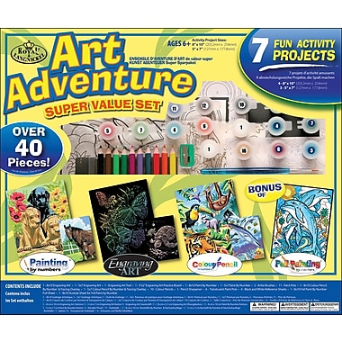 Royal Brush Art Adventure Super Value Pack Kit, 40+ Pieces