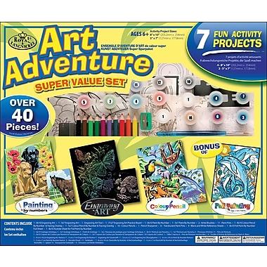 Royal Brush Art Adventure Super Value Pack Kit, 40+ Pieces