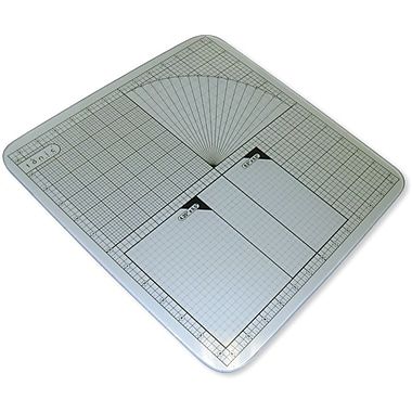 Tonic Studios Tempered Glass Cutting Mat, 12in. x 12in. Measuring Grid