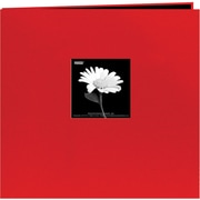 "Pioneer Book Cloth Cover Postbound Album With Window, 8"" x 8"", Red"