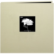 "Pioneer Book Cloth Cover Postbound Album With Window, 8"" x 8"", Biscott Beige"
