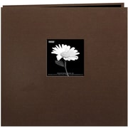 "Pioneer Book Cloth Cover Postbound Album With Window, 8"" x 8"", Brown"