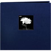 "Pioneer Book Cloth Cover Postbound Album With Window, 8"" x 8"", Regal Navy"