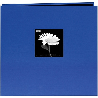 Pioneer Book Cloth Cover Postbound Album With Window, 8in. x 8in., Cobalt Blue
