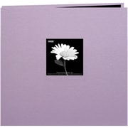 "Pioneer Book Cloth Cover Postbound Album With Window, 8"" x 8"", Misty Lilac"