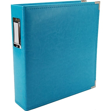 We R Memory Keepers Faux Leather 3-Ring Binder, 8.5in. x 11in., Aqua