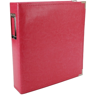 We R Memory Keepers Faux Leather 3-Ring Binder, 8.5in. x 11in., Strawberry