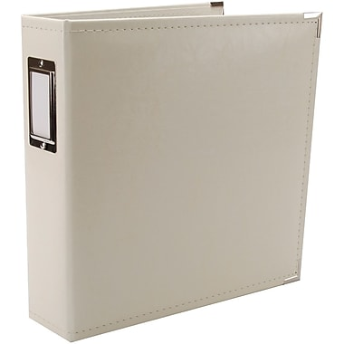 We R Memory Keepers Faux Leather 3-Ring Binder, 8.5in. x 11in., Vanilla